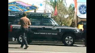 Nimbin April Fool's Day Raid On April 1st 2008, a huge contingent of police raided the small Australian hippy town of Nimbin... yet again.